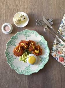 Ayurvedic spiced carrot fritters