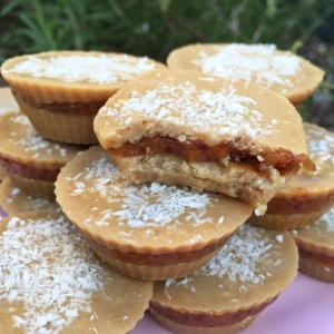 Coconut tahini cups with a creamy date filling 1